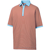 FootJoy Men's Lisle Stripe Golf Polo