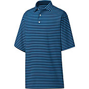 FootJoy Men's Lisle 2-Color Stripe Golf Polo