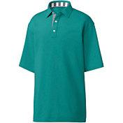 FootJoy Men's Solid Pique Stripe Trim Golf Polo