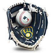 Franklin Youth Milwaukee Brewers Teeball Glove and Ball Set