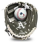 Franklin Youth Oakland Athletics Teeball Glove and Ball Set