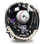 Franklin Youth Colorado Rockies Teeball Glove and Ball Set