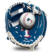 Franklin Youth Texas Rangers Teeball Glove and Ball Set