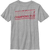Fifth Sun Youth 2019-2020 League Champions Liverpool FC Grey T-Shirt