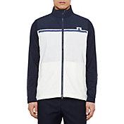 J.Lindeberg Men's Blocked Logo Lux Softshell Golf Vest