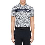 J.Lindeberg Men's Clark Print TX Jersey Slim Fit Golf Polo