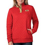 G-III For Her Women's San Francisco 49ers Quillted Red Pullover