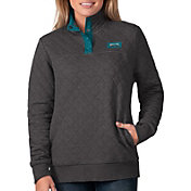 G-III For Her Women's Philadelphia Eagles Quillted Black Pullover