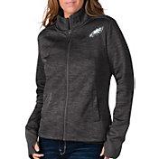 G-III For Her Women's Philadelphia Eagles Space Dye Black Full-Zip Jacket