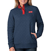G-III For Her Women's New England Patriots Quillted Navy Pullover