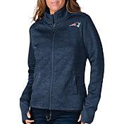 G-III For Her Women's New England Patriots Space Dye Navy Full-Zip Jacket