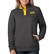 G-III For Her Women's Pittsburgh Steelers Quillted Black Pullover
