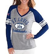 G-III For Her Women's XFL St. Louis BattleHawks Sleeve Stripe Grey Long Sleeve Shirt