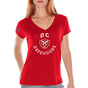 G-III For Her Women's XFL DC Defenders Fair Catch Red T-Shirt
