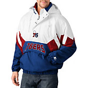 Starter Men's Philadelphia 76ers Line Up Hooded Pullover Jacket