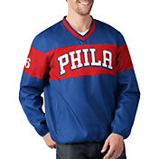G-III Men's Philadelphia 76ers Slam Dunk Blue Pullover Jacket