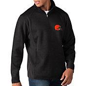 G-III Men's Cleveland Browns Peacemaker Black Quarter-Zip Pullover