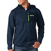 G-III Men's Seattle Seahawks Sprint Navy Full-Zip Jacket