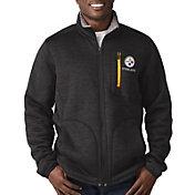 G-III Men's Pittsburgh Steelers Fast Track Black Full-Zip Jacket