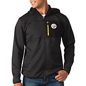 G-III Men's Pittsburgh Steelers Sprint Black Full-Zip Jacket