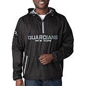 G-III Men's XFL New York Guardians Baserunner Black Quarter-Zip Jacket