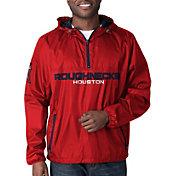 G-III Men's XFL Houston Roughnecks Baserunner Red Quarter-Zip Jacket