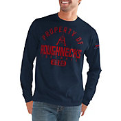 G-III Men's XFL Houston Roughnecks 'Property Of' Long Sleeve Navy T-Shirt
