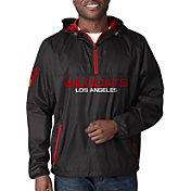 G-III Men's XFL Los Angeles Wildcats Baserunner Black Quarter-Zip Jacket