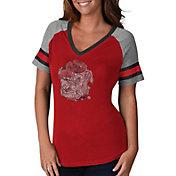 G-III For Her Women's Georgia Bulldogs Fade V-Neck T-Shirt