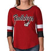 G-III For Her Women's Georgia Bulldogs Red Prospect ¾ Sleeve T-Shirt