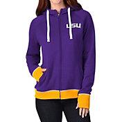 G-III For Her Women's LSU Tigers Purple Onside Full-Zip Hoodie