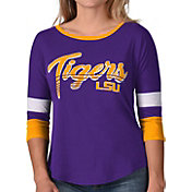G-III For Her Women's LSU Tigers Purple Prospect ¾ Sleeve T-Shirt