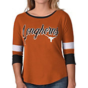 G-III For Her Women's Texas Longhorns Burnt Orange Prospect ¾ Sleeve T-Shirt