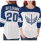 G-III Women's XFL St. Louis BattleHawks Mesh Blue Jersey Top