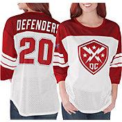 G-III Women's XFL DC Defenders Mesh Red Jersey Top