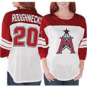 G-III Women's XFL Houston Roughnecks Mesh Red Jersey Top