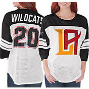 G-III Women's XFL Los Angeles Wildcats Mesh Black Jersey Top