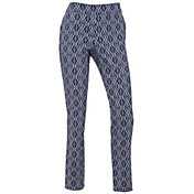 EP Pro Women's Bicolor Ikat Print Compression Golf Pants