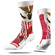 Strideline Wisconsin Badgers Mascot Crew Socks