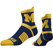 Strideline Women's Michigan Wolverines Striped Socks