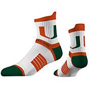 Strideline Women's Miami Hurricanes Striped Socks