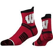 Strideline Women's Wisconsin Badgers Striped Socks