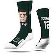 Strideline Youth Green Bay Packers Aaron Rodgers Emoji Socks