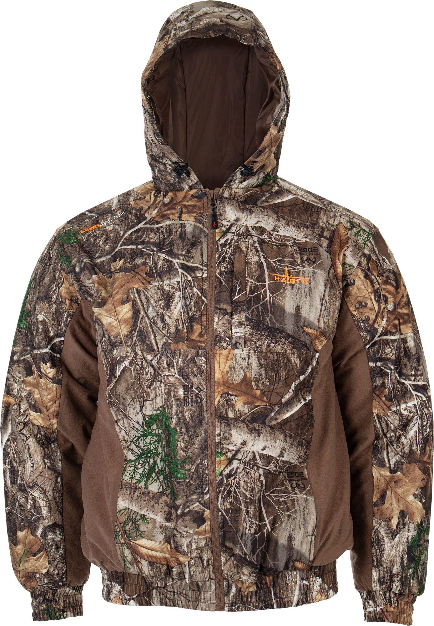 Habit Men's Cedar Branch Insulated Waterproof Bomber Hunting Jacket, Medium, Multi
