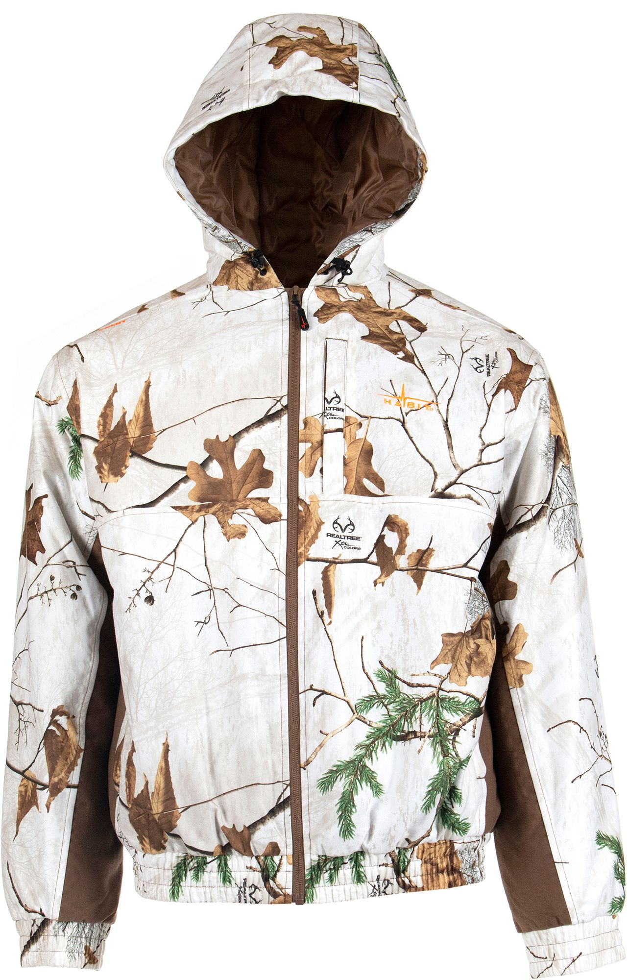 Habit Men's Cedar Branch Insulated Waterproof Bomber Hunting Jacket, Large, Multi