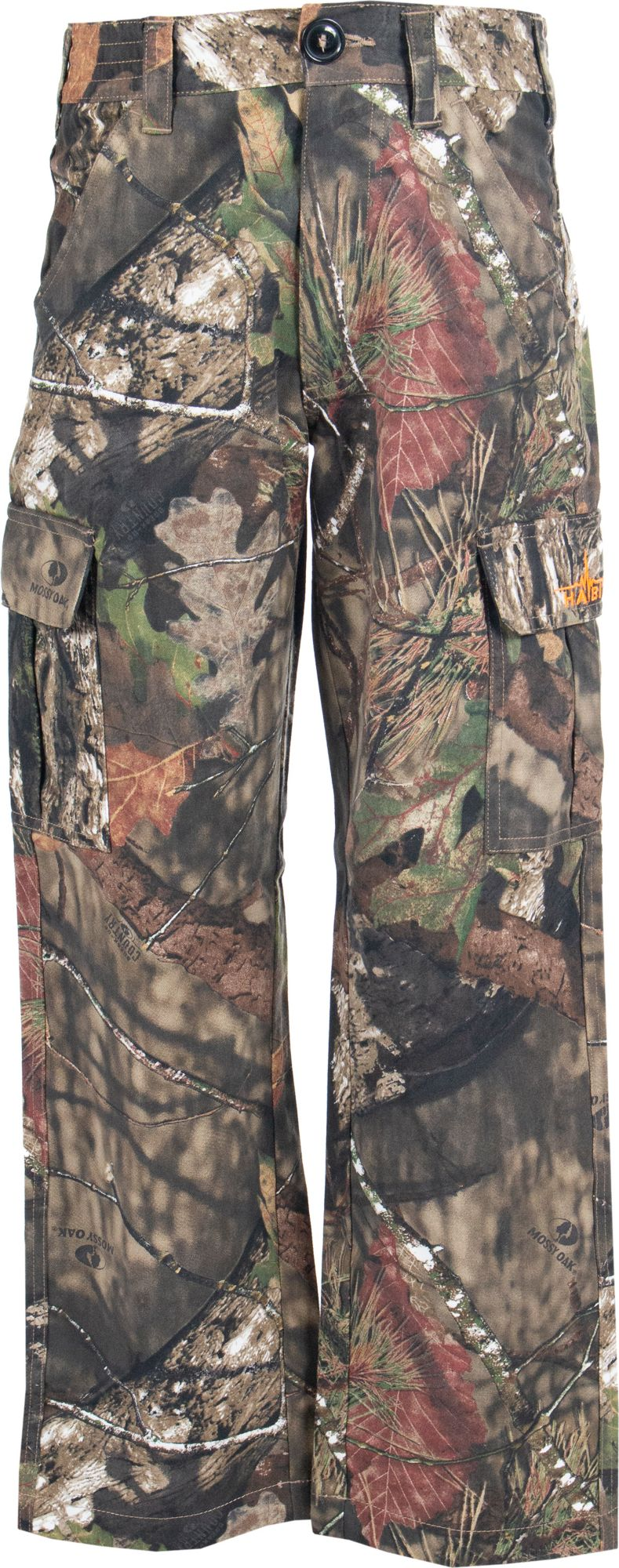 Habit Youth Bear Cave 6 Pocket Camo Hunting Pants, Kids, YS, Brown