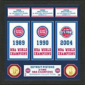Highland Mint Detroit Pistons Banner Bronze Coin Photo Mint