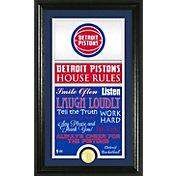 Highland Mint Detroit Pistons House Rules Bronze Coin Photo Mint