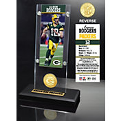 Highland Mint Green Bay Packers Aaron Rodgers Ticket Coin Desktop Display