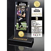 Highland Mint New Orleans Saints Drew Brees Ticket Coin Desktop Display